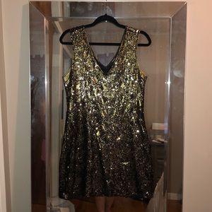 Super Hot Sequin Gold Dress